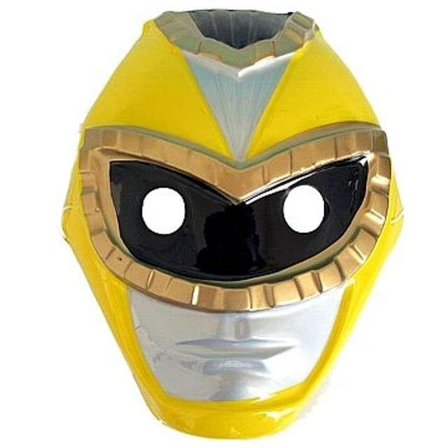 """Maska """"Robot"""", żółta, plastikowa"""
