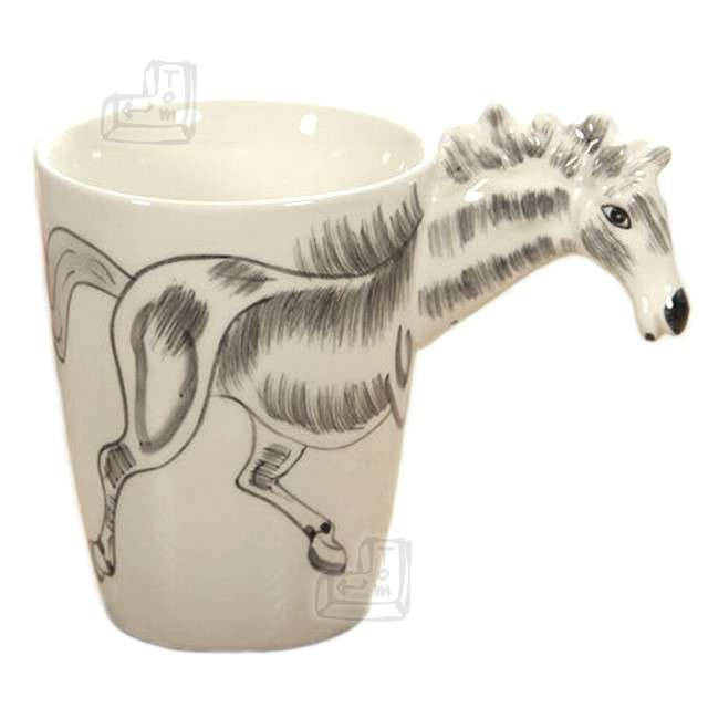 "Kubek ""3D koń"", biały"