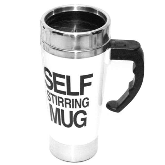 """Kubek """"Self Stirring Mug - samomieszający"""", biały. GM"""