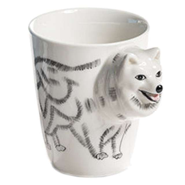 """Kubek """"Zwierzęta 3D pies"""", biały, GM"""