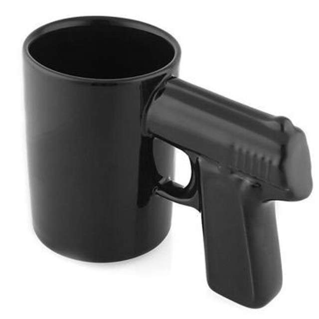 """Kubek """"Pistolet"""", czarny"""