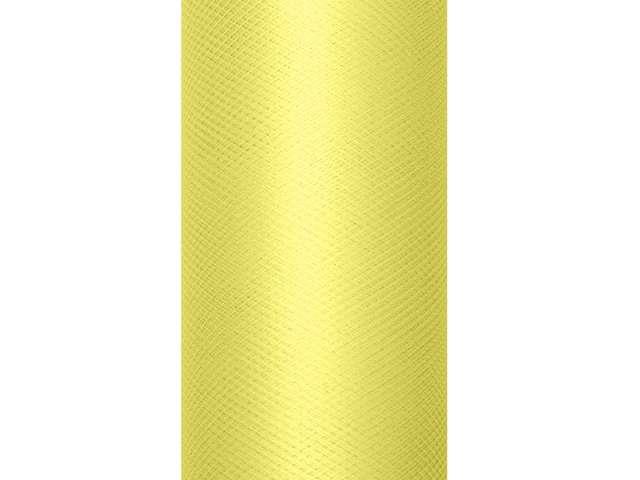 Tiul gładki, żółty jasny, 0,08 x 20 m