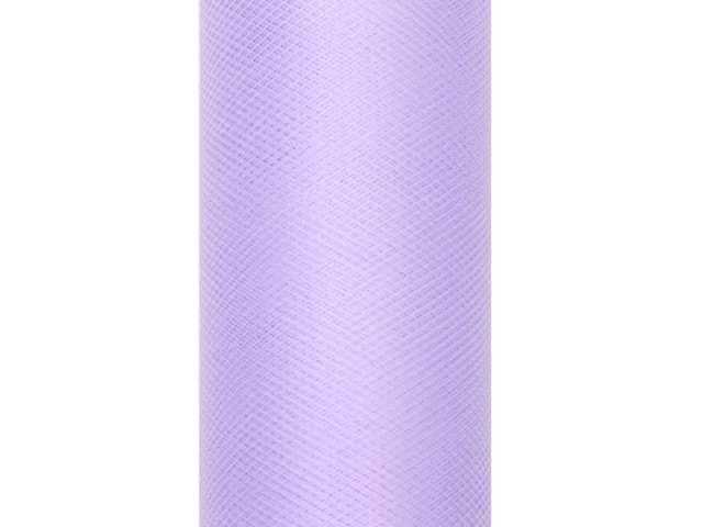 Tiul gładki, liliowy, 0,08 x 20 m
