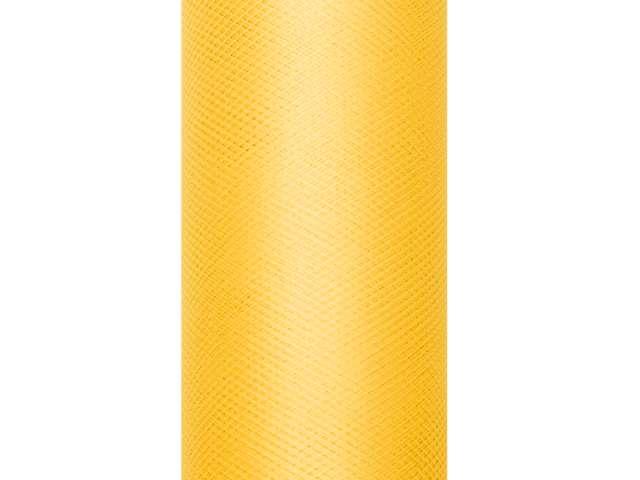 Tiul gładki, żółty, 0,08 x 20 m