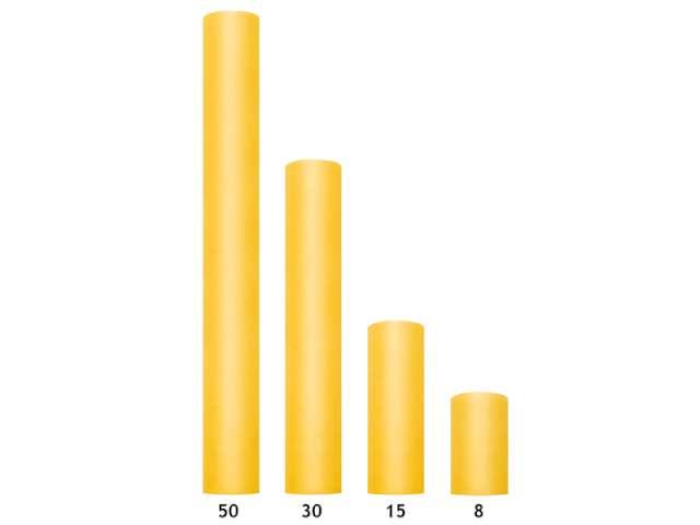 Tiul gładki żółty 008 x 20 m