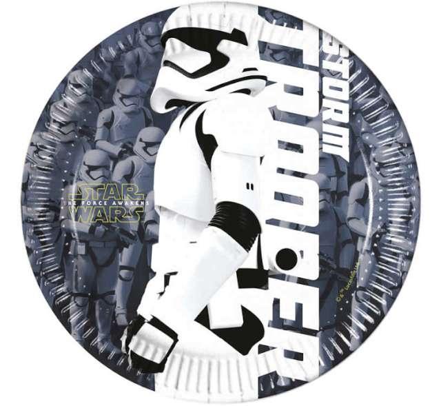 """Talerzyki papierowe """"Star Wars"""" The Force Awaknes, 20 cm, 8 szt"""