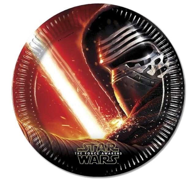 """Talerzyki papierowe """"Star Wars"""" The Force Awaknes, 23 cm, 8 szt"""