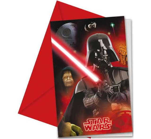 """Zaproszenia urodzinowe """"Star Wars Final Battle"""", PROCOS, 6 szt"""