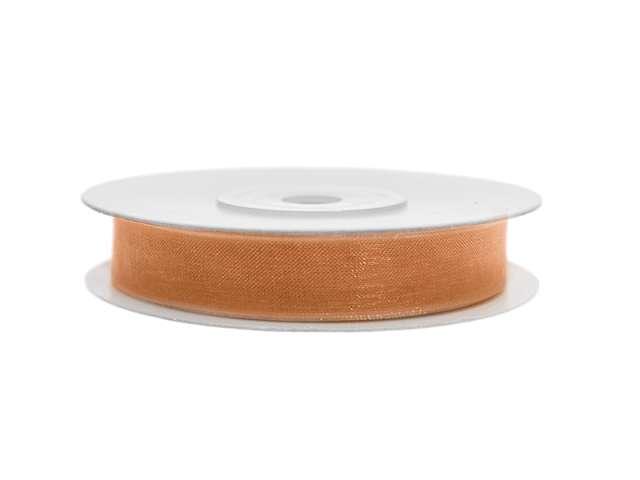 Tasiemka szyfonowa, pomarańczowa, 6 mm / 25 m