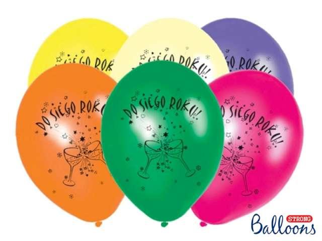 """Balony 12"""", """"Do siego roku !"""", 6 szt"""