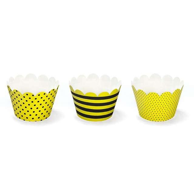 "Papilotki na muffinki ""Pszczółka"", 6 szt"