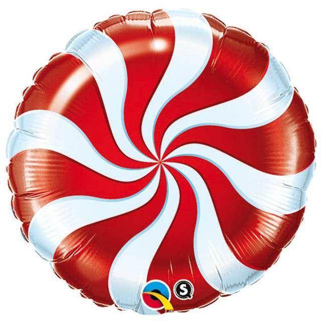 """Balon foliowy 9"""" Lizak, czerwony"""