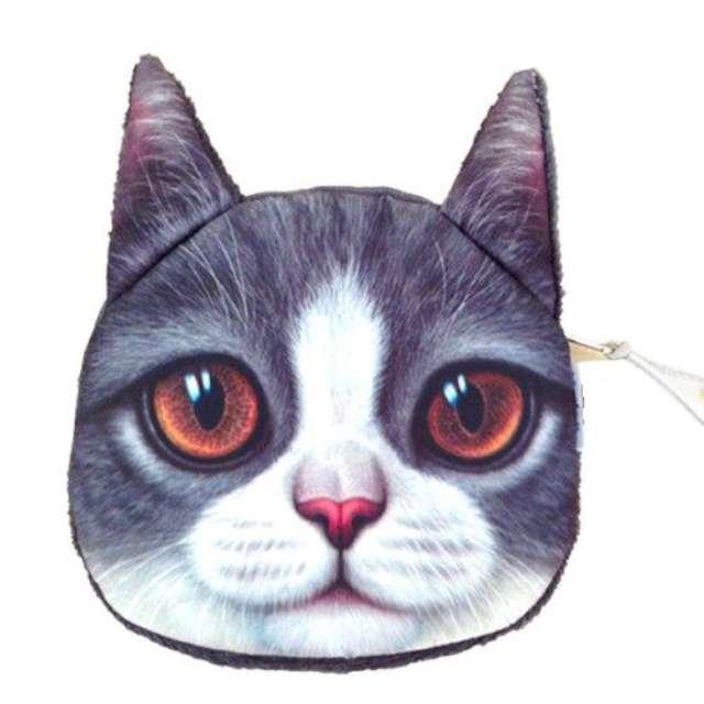 """Portfel """"Kot 3D z brązowymi oczami"""", GadgetMaster"""