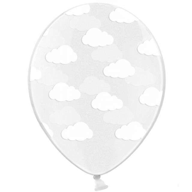 "Balony 14"", ""Chmurki"", STRONG, Crystal Clear, 6 szt"