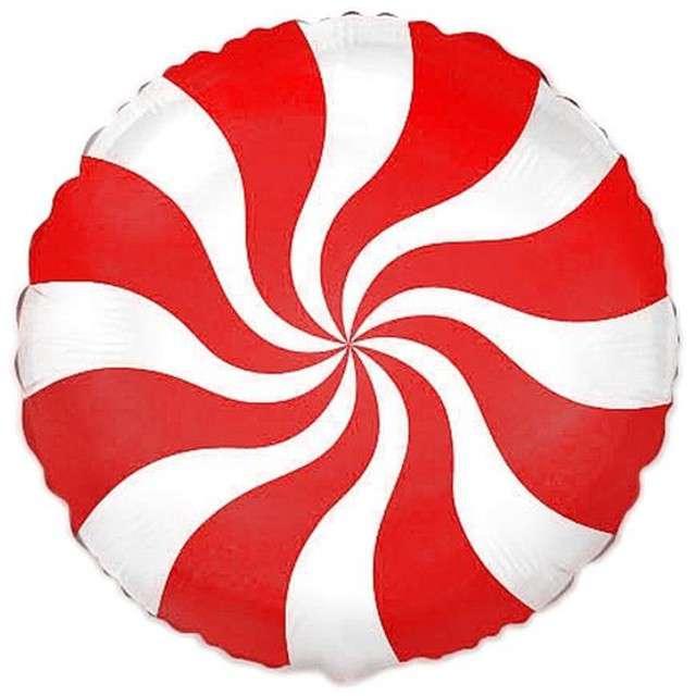 """Balon foliowy """"Lizak"""", czerwony, FLEXMETAL, 18"""" RND"""