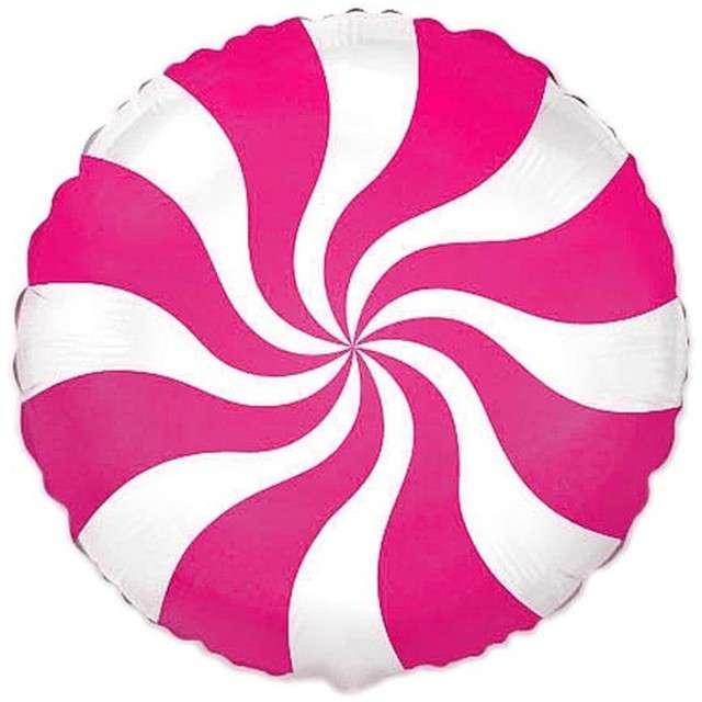 """Balon foliowy 18"""" Lizak, różowy"""