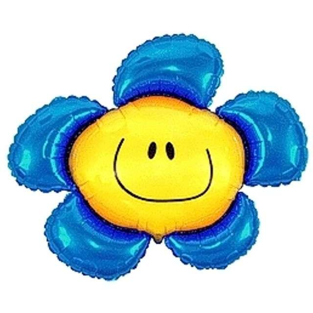 """Balon foliowy 14"""" Kwiatek niebieski"""