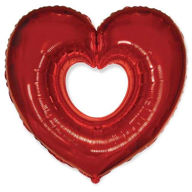 """Balon foliowy """"Serce Czerwone"""", FLEXMETAL, 24"""" HRT"""