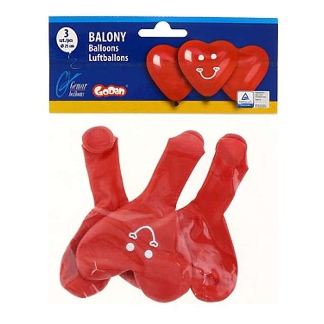 Balony Serca z uśmiechem czerwone Godan 10 HRT 4 szt