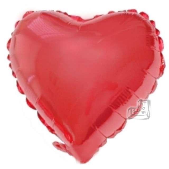 """Balon foliowy """"Serce"""", czerwone, FLEXMETAL, 4"""""""