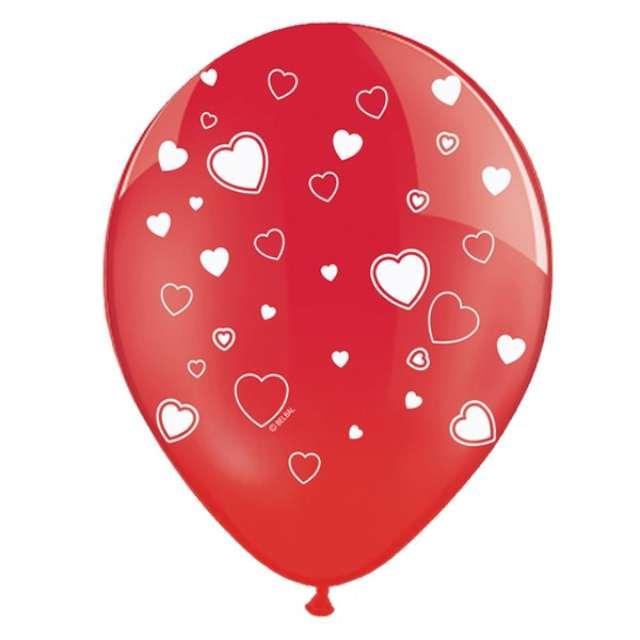 "Balony 14"", ""Serca"", STRONG, Crystal Poppy Red, 6 szt"
