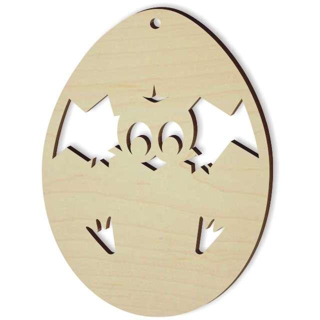 """Zawieszka drewniana """"Kurczaczek w jajku"""", 62x85 mm, 10 szt"""