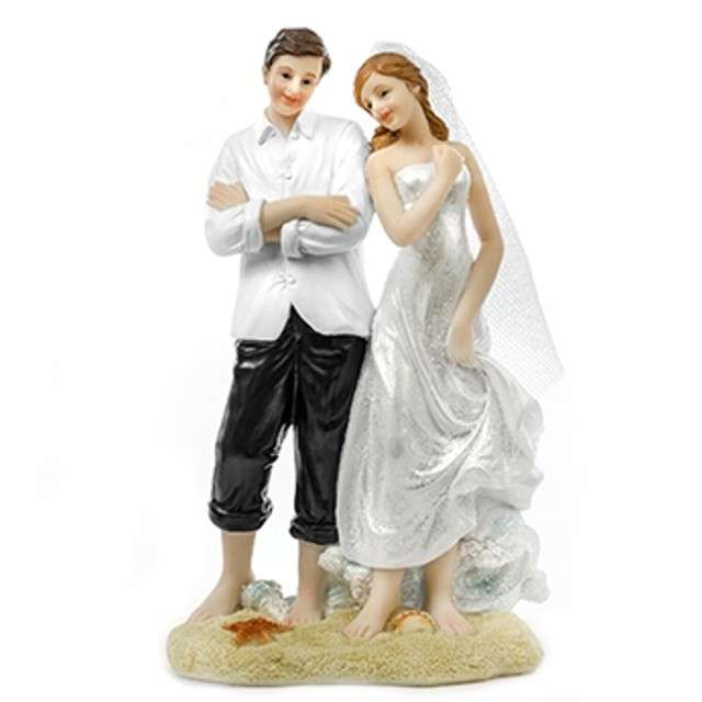 "Figurka na tort ""Para Młoda na plaży"", 15cm"