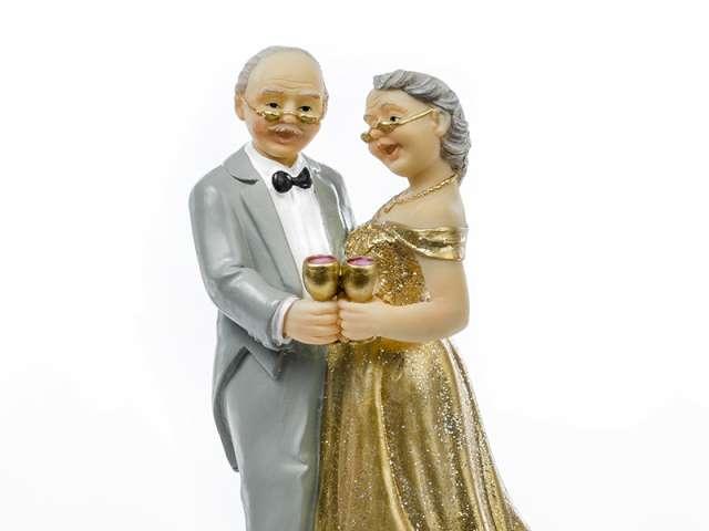 """Figurka na tort """"Złote Gody"""", 12cm"""