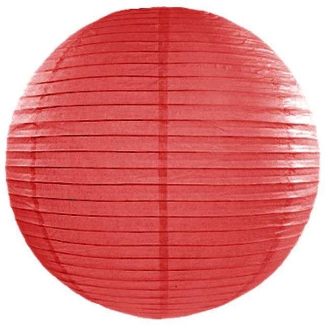 Lampion papierowy, czerwony, 20 cm