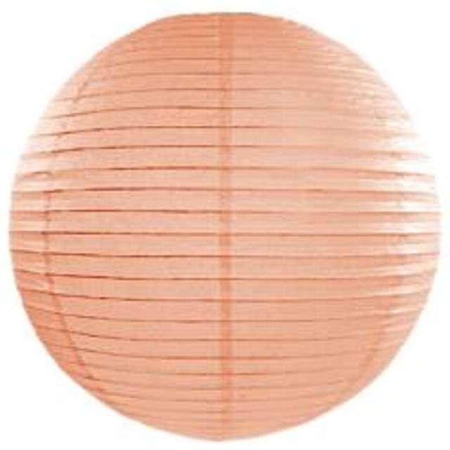 Lampion papierowy, brzoskwiniowy jasnt, 20 cm