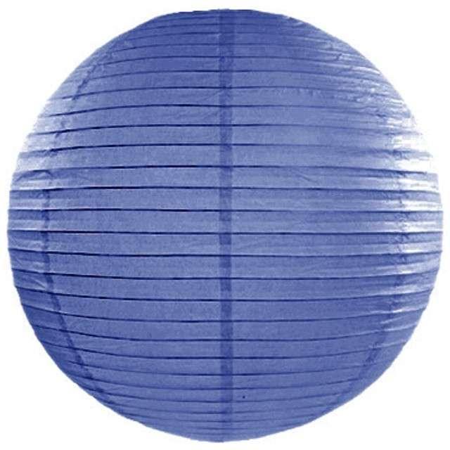 Lampion papierowy, niebieski królewski, 20 cm