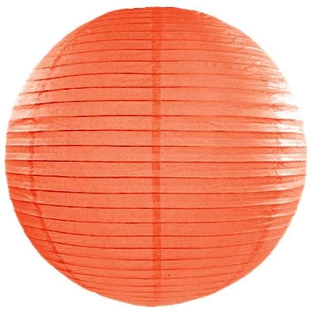Lampion papierowy, pomarańczowy, 20 cm