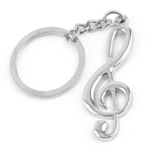 Brelok muzyka - klucz wiolinowy