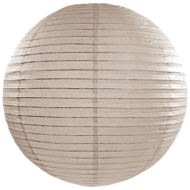 Lampion papierowy, beżowy, 25 cm