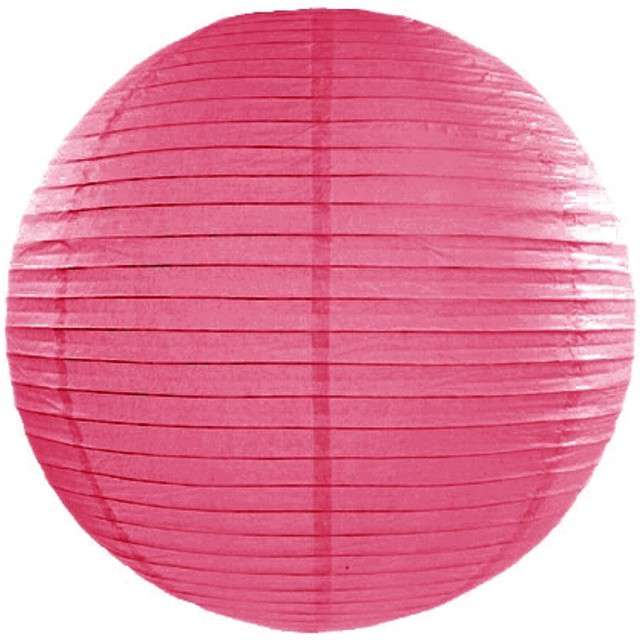 Lampion papierowy, różowy ciemny, 25 cm
