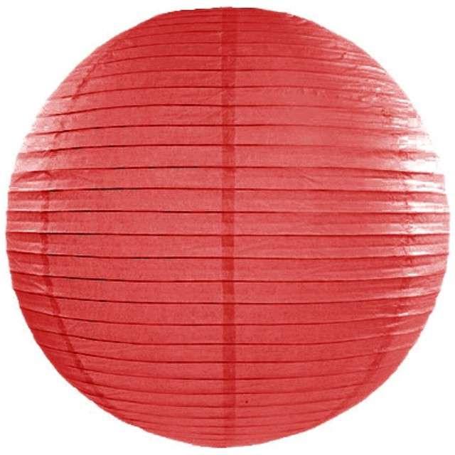 Lampion papierowy, czerwony, 25 cm