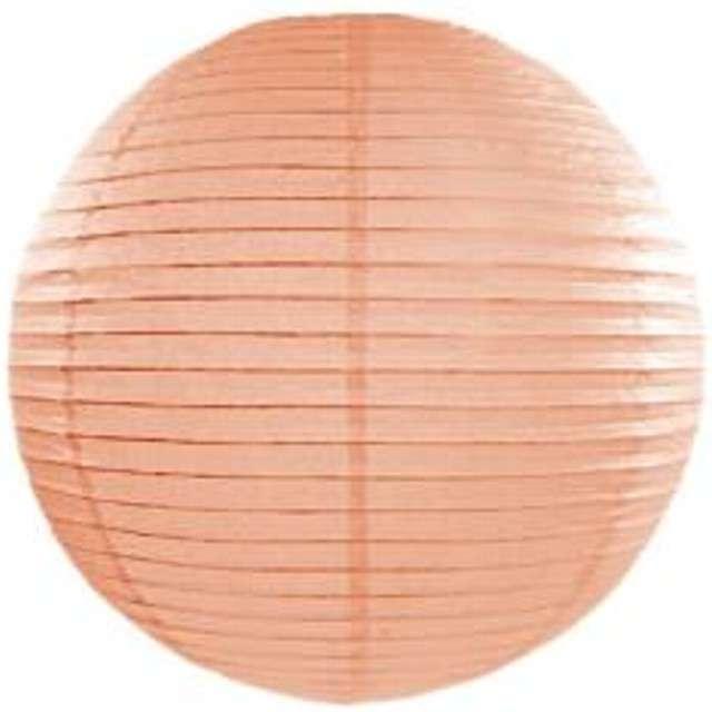 Lampion papierowy, brzoskwiniowy jasny, 25 cm