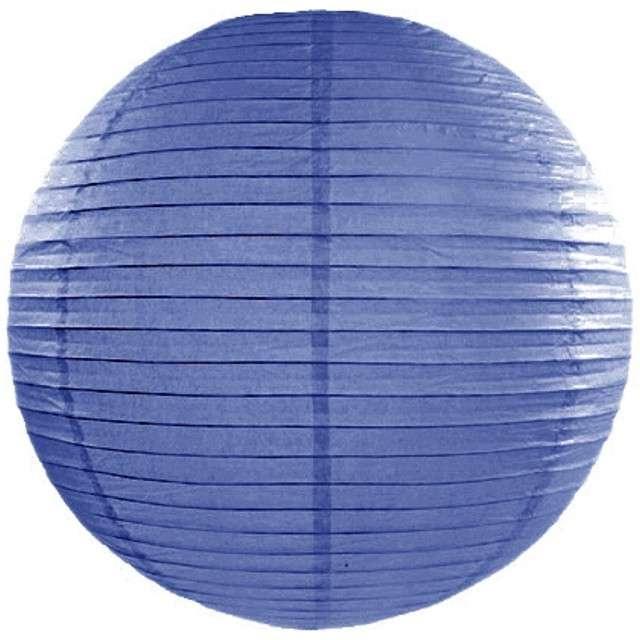 Lampion papierowy, niebieski królewski, 25 cm