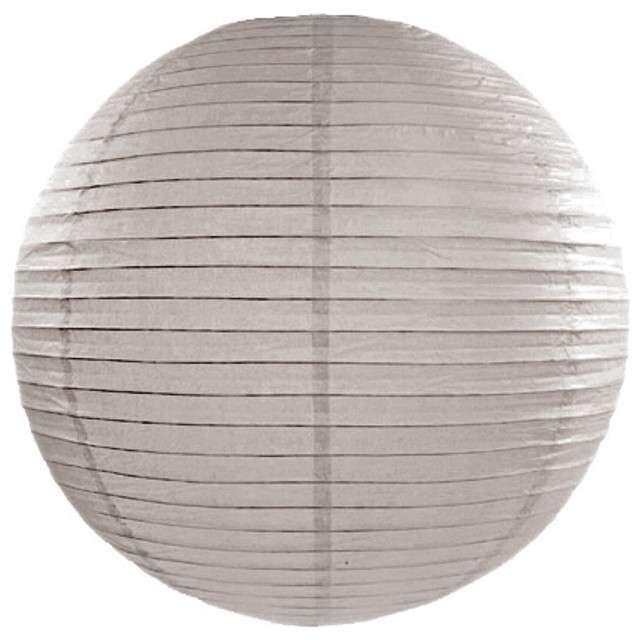 Lampion papierowy, szary pudrowy, 25 cm
