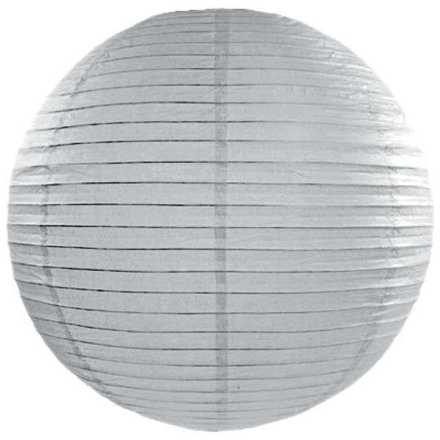 Lampion papierowy, szary, 25 cm