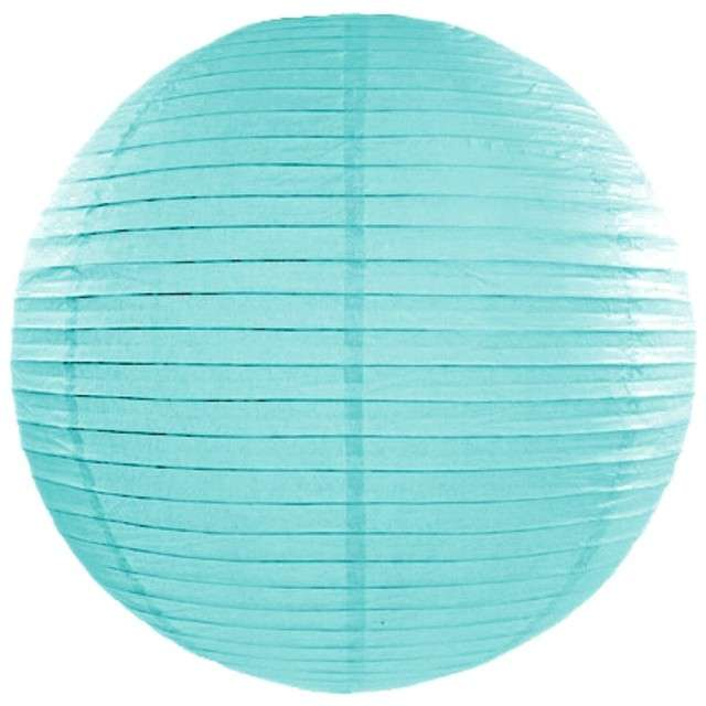 Lampion papierowy, tiffany blue, 25 cm