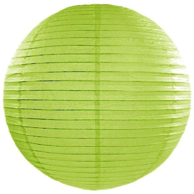 Lampion papierowy, zielone jabłuszko, 25 cm
