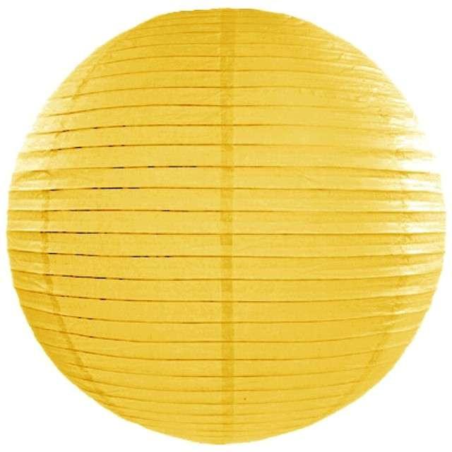 Lampion papierowy, żółty, 25 cm