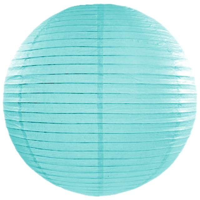Lampion papierowy, tiffany blue, 35 cm