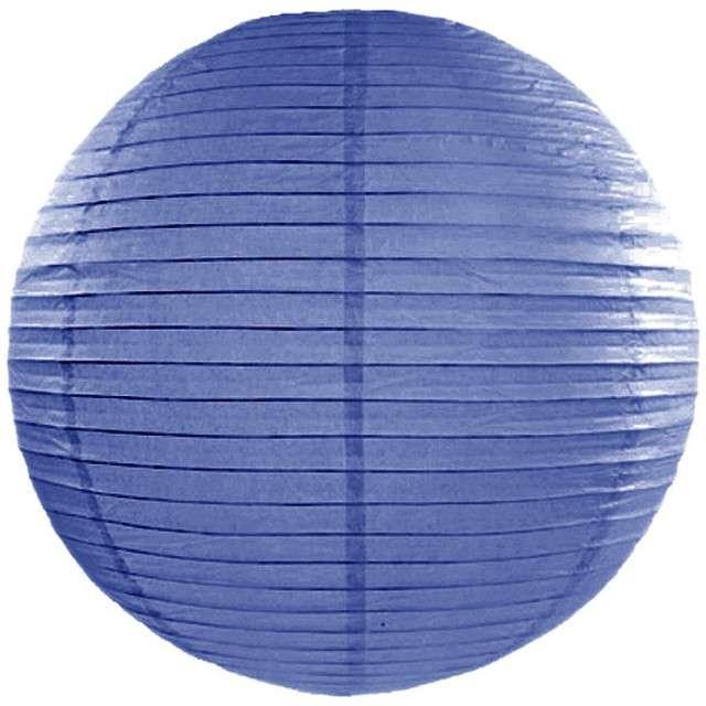 Lampion papierowy, niebieski królewski, 45 cm