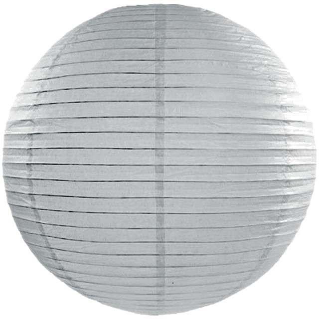 Lampion papierowy, szary, 45 cm