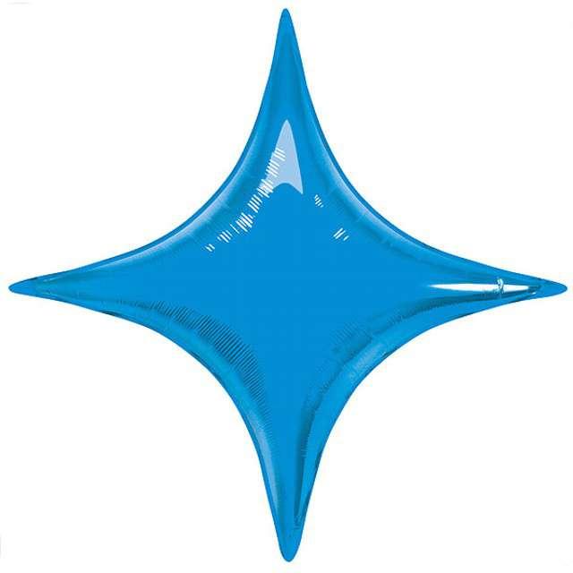 "Balon foliowy ""Gwiazda 4-ka"", niebieska, QUALATEX, 40"""