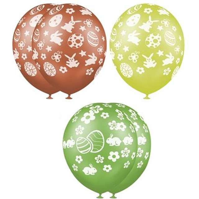 Balony 12 Wielkanoc GEMAR mix 5szt