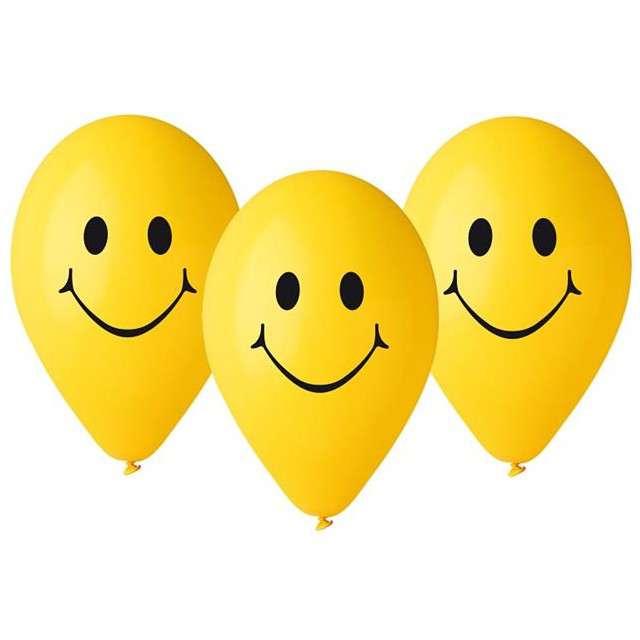 """Balony 12"""", """"Uśmiechy"""", GEMAR, MIX, 5 szt"""