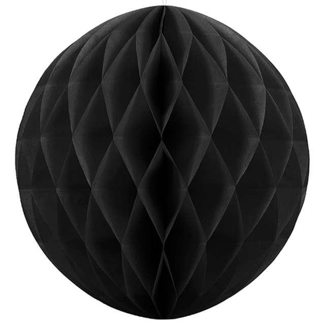 Kula bibułowa, czarna, 10 cm